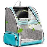 HUO ZAO Mochila portadora de perro, mochila para gato grande, malla de ventilación completa para gato