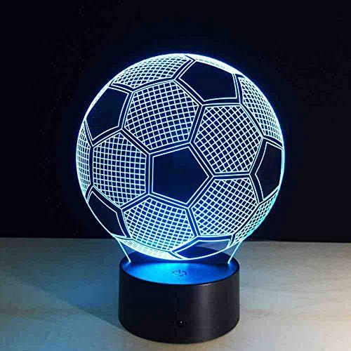 CDBAMX football Mode Freizeit 3D Lampe 7 Farbe Led Nachtlampen Für Kinder Touch Led Usb Tisch Baby Schlafen Nachtlicht