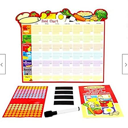 Health Shopping Preciashopping Kids Healthy Eating Dry Erase Reward Chart w/Parents Guide, Pen, Smiley Stickers