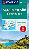 KOMPASS Wanderkarte Sardinien Süd, Sardegna Sud: 4 Wanderkarten 1:50000 im Set inklusive Karte zur offline Verwendung in der KOMPASS-App. Fahrradfahren. (KOMPASS-Wanderkarten, Band 2499)