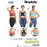 Simplicity Creative Patterns Misses' Knit Sports Bras Pattern, A (30A-44g)