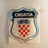 All3DStickers Aufkleber Kroatien Wappen Kfz-Aufkleber Kroatien Emblem Gedomt Flagge 3D Fahne