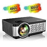Proyector, TOPTRO Mini Proyector Portátil de Cine en Casa 4500 Lúmenes Soporte Full HD 1080P...