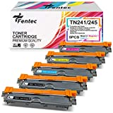 FENTEC Cartuchos de Tóner TN241 TN245 Compatible para Brother TN-241 TN-245 para Brother HL-3140CW 3142CW 3150CDW 3152CDW 3170CDW 3172CDW MFC-9130CW 9140CDN 9330CDW 9340CDW DCP-9020CDW
