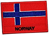 Norway Flag Patch Country National Flag Military Embroidered Sew On Patch Applique Sew Iron On Men Shoulder Shirt Jackets Jeans Vest Group MC Biker Motorcycle (06)