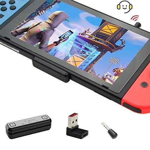 GULIkit Route Air PRO Adattatore Bluetooth per Nintendo Switch/Lite PS4 PC, Trasmettitore Ricevitore Audio Senza Fili con aptX a Bassa Latenza Compati