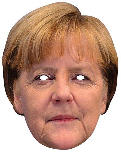 Party-Maske aus hochwertigem Karton Funny Masks Celebrity Pappe , Namen:Angela Merkel