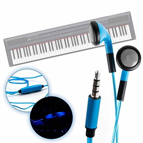 DURAGADGET Auriculares In-Ear con Luz LED Azul para Teclado/Piano Eléctrico Yamaha NP-V80...