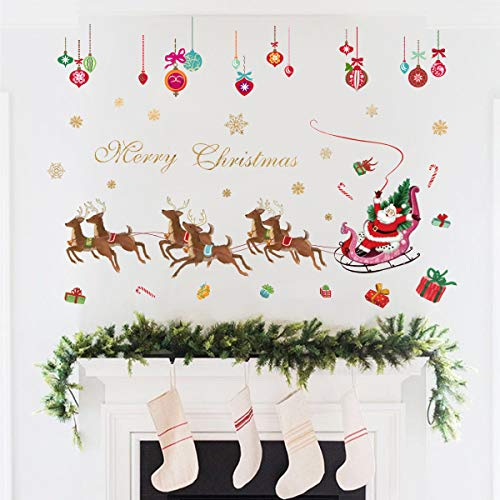 Decalplanet Christmas Wall Decals Xmas Snowflake Window Clings Removable DIY Wall Art Holiday Window Sticker Bedroom Door Décor