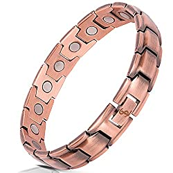 Traditional copper 7th anniversary gift idea for him - copper bracelet
