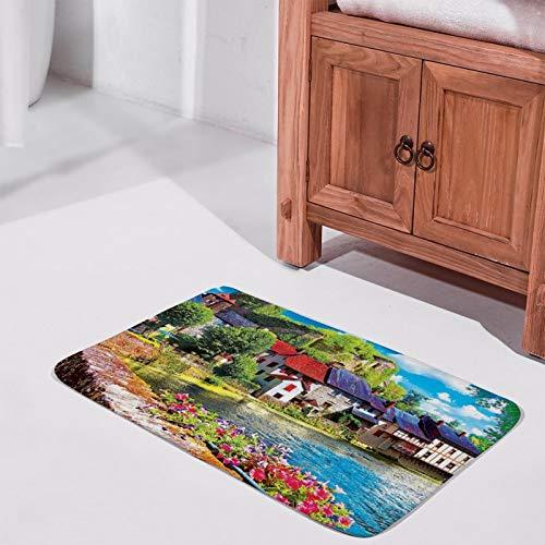 Alfombra bellamente Impresa, 15 '' × 25 '', Terciopelo Coral, río Auvezere Francia