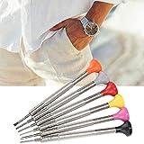 Driversets de tornillo portátil removedor de banda de reloj accesorio de tornillo de banda de reloj, 6pcs / set herramienta de tornillo de reloj, con cabezal de repuesto para joyeros