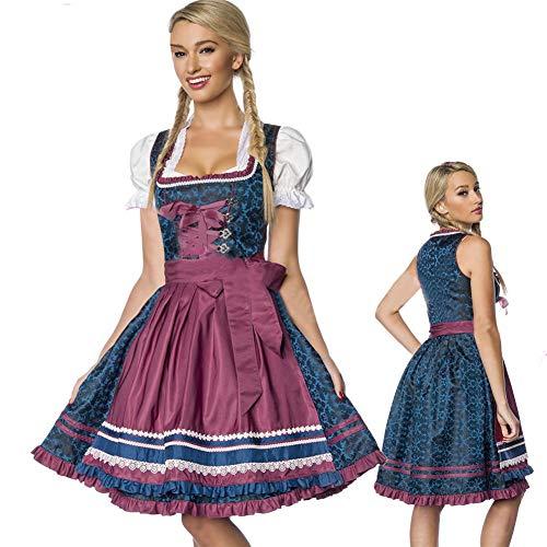 W&G Halloween Etnische Jurk, Oktoberfest Maid Costume, Geschikt voor Halloween-kerstfeesten