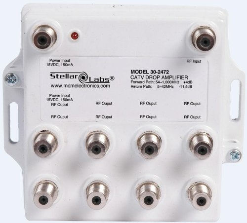 CATV Signal Amplifier Passive Return 1X8