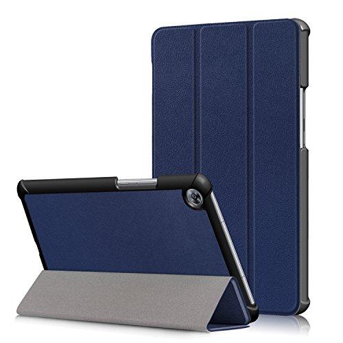 Funda Huawei MediaPad M5 8.4 Case, Smart Cover Protectora de Cuero con Función de Soporte para Huawei MediaPad M5 8.4 Pulgadas Tableta con Auto Sueño & Estela Función, Índigo