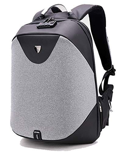 Arctic Hunter by Lioncrown Anti Theft 15.6 inches Laptop Backpack with USB Charging (Black)