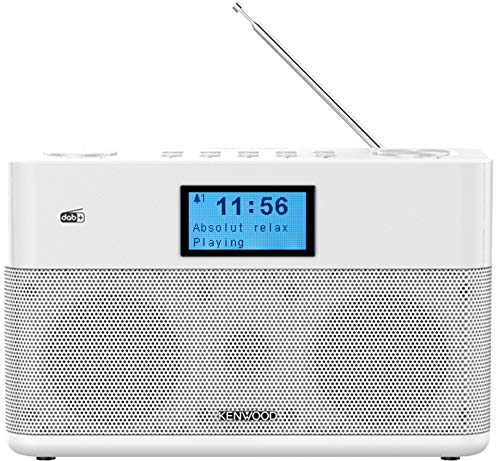 Kenwood CR-ST50DAB-W Stereo-Kompaktradio (DAB+, UKW, Bluetooth, Line-In, Kopfhöreranschluss, Weckfunktion, Farbe Weiß)