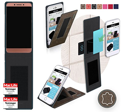 Hülle für LeEco Le Pro 3 Tasche Cover Case Bumper | Braun Wildleder | Testsieger