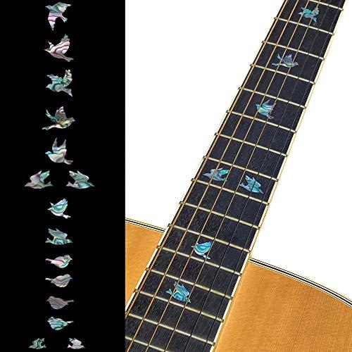 Inlaystickers - Marcador de posición de diapasón para guitarras y bajos, mezcla de palomas y abulones
