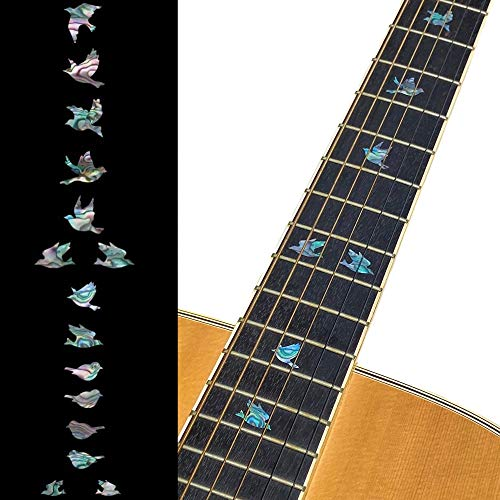 Inlay Sticker Griffbrett Position Marker für Gitarren & Bass - Doves - Abalone-Mix