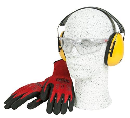 Oregon 572870Brushcutter und Rasentrimmer Sicherheits-Set mit Handschuhe, weiche Ohrenschützer und Brille