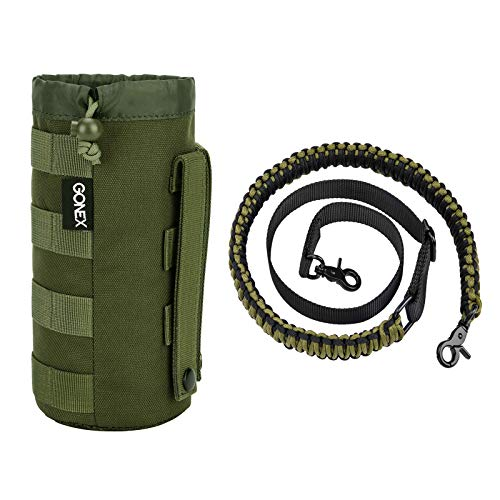 Gonex MOLLE Water Bottle Pouch with Upgraded Rifle Gun Sling for Outdoor Activities