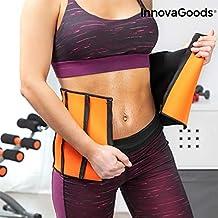 InnovaGoods Sportriem met slank sauna-effect, voor volwassenen, uniseks, oranje, verstelbaar 68-94 cm