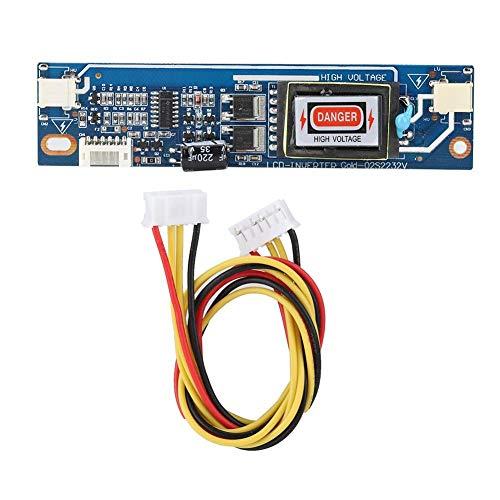CCFL Inverter Board,10-28V 4-poliger Überspannungs-/Überstromschutz Hochdruck-Wechselrichterplatine, Wechselrichter zwischen Gleichstrom und Wechselstrom für 4 Lampen Hintergrundbeleuchtung LCD-Panel