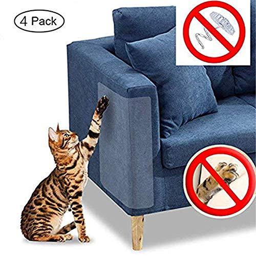 Andy Herr Cat Scratch Möbel,4 PCS klare Premium Pflicht flexiblem Vinyl Pet Couch Displayschutzfolie Wachen,diskret Cat Scratch Möbel Displayschutzfolie,die Polsterung zu schützen, Wände,Matratze,Tür