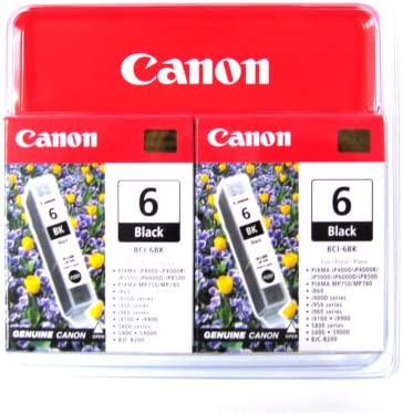 Canon 4705A037 BCI-6 Black 2 Pack