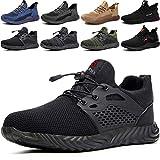 Zapatos de Seguridad Hombre Trabajo Cómodas, Zapatillas de Trabajo con Punta de Acero Ultraligero Transpirables, 36-48