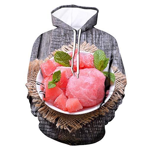 ZEIYUQI hoodie heren shirt met lange mouwen capuchon met ronde hals 3D gedrukt graffiti, realistische nieuwheid sweatshirt
