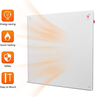Heater Panel - Wall Mount Heater with Overheating Auto Cut-off, 250 Sq Ft Coverage, Crack Resistant, 120V, 450W Power, Save up to 50% Heating Bill, TRUSTECH Electric Space Heater