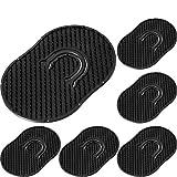 6 Packs Pocket Palm Combs, Shampoo Comb, Massager Hair Brush Comb, Scalp Massager Brush Comb (Black)