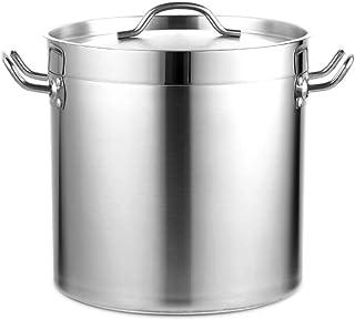 MNSSRN Seau à Soupe épais en Acier Inoxydable, Seau de Rangement pour marmite à Soupe Multifonction étanche de Grande capa...