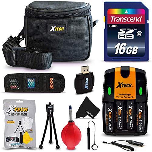 Accessories kit Bundle for Nikon Coolpix L810 L820 L830 L840 L310 L320 L330 L340 B500 L620 L120 Digital Camera with 16GB SD Memory Card, Camera Case, 4AA Batteries w. Charger + Camera Starter Kit