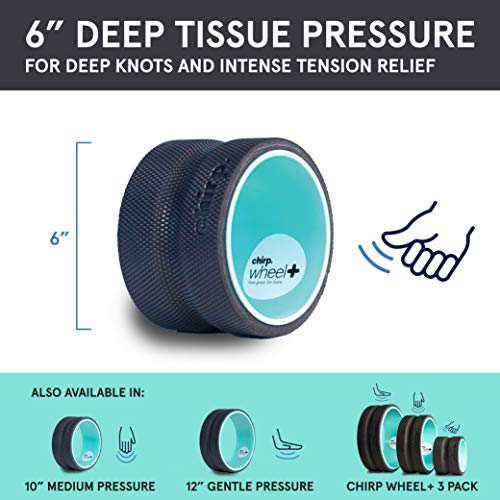 "Chirp Plexus 6"" Deep Tissue Wheel+ for Back Pain, Stretches and Strengthens Core Muscles, Relieves Strain to Muscles and Ligaments, Helps Prevent Herniated/Bulging Discs, Arthritis, and Osteoporosis."