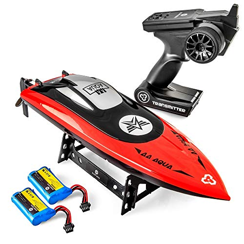 Altair AA102 RED RC Boat for Pools or Lakes [Ultra Fast Pro Caliber] Free Priority Shipping | Water Safety Propeller & Self Righting System | 2 Batteries Included | 30 km/h (Lincoln, NE Company)