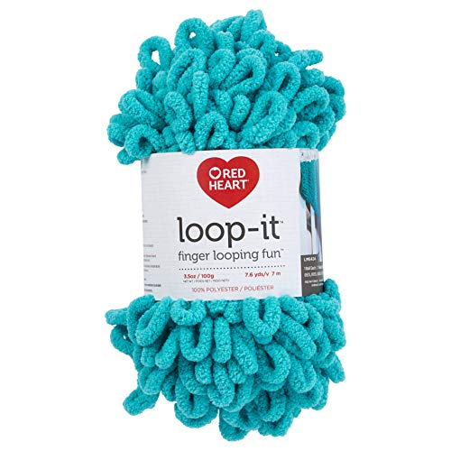 RED HEART E884.0531 Loop-It yarn Everybody in the Pool