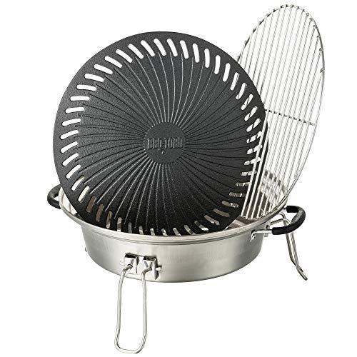 BBQ-Toro Grill Set für Raketenofen, bestehend aus: Gusseisen Grillplatte, Grillrost, Tropfschale und Heber
