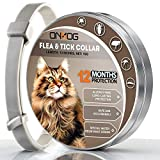 ONMOG Collar for Cat – Adjustable, Safe and Water Resistant Collar - 12 Months Protection – Natural Essential Oil Extracts [2020 Upgrade Version]