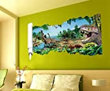 HALLOBO® Wandtattoo Wandaufkleber 3D Dinosaurier Jurassic