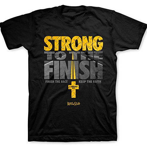Kerusso Men's Strong To The Finish T-Shirt - Black -XL