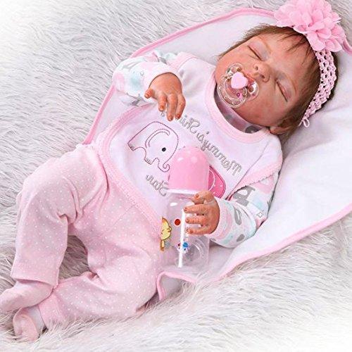 """ZIYIUI 23 """" Juguete Realista de Muñecas 58cm Vinilo de Silicona de Algodón Reborn Baby Doll"""