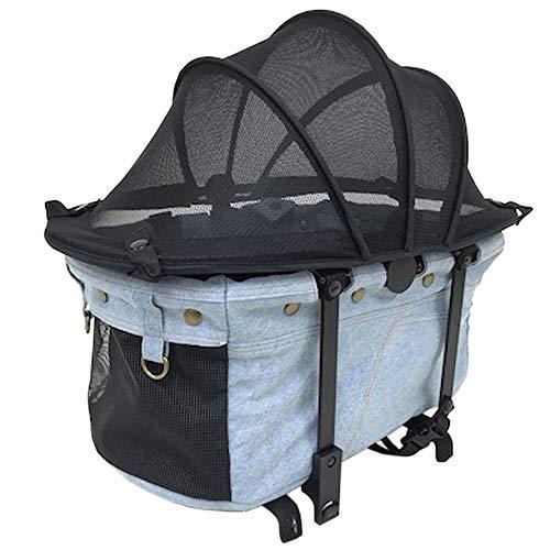 [マザーカート] Mother Cart ラプレL 上段 ペイルブルー ペットカート ペットキャリー 多頭飼い 旅行 介護 お出かけ