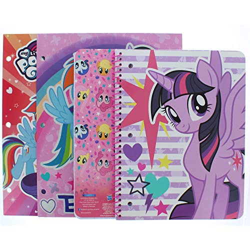 My Little Pony Portfolio Folder (2 Pack) and 1 Wide Ruled Subject Notebook (Pictures May Vary)