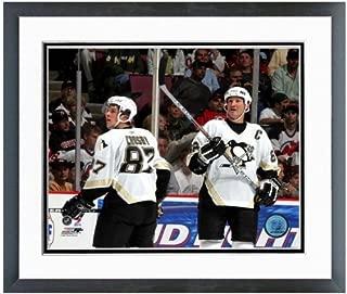 NHL Sidney Crosby Mario Lemieux Pittsburgh Penguins Action Photo 12.5