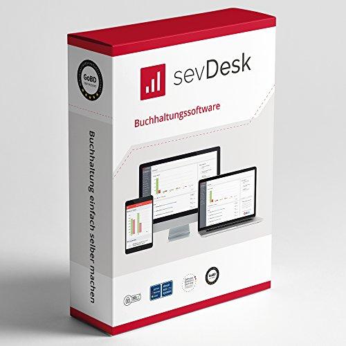 sevDesk Cloudbasierte Online Buchhaltungssoftware & Rechnungsprogramm 2019 Jahreslizenz - Buchhaltung und Rechnung für Selbstständige, Kleinunternehmer, Handwerker (Windows, Mac iOS, Android & Linux)