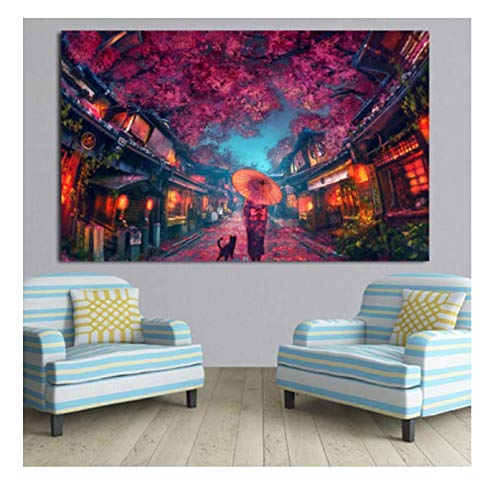 xuyuandass Fantasy DIY Painting Acrylic Paint On Digital Canvas Hand-Painted Oil Painting Landscape Home Decoration ArtFrameless50x60Cm Dl155