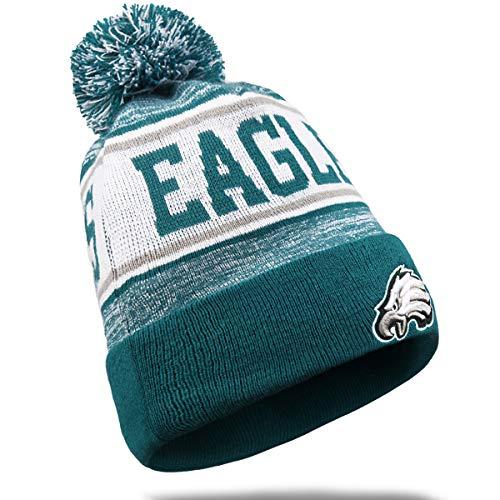 LEMOISTARS Eagles Fans Gorros de invierno de punto con puños para deportes...